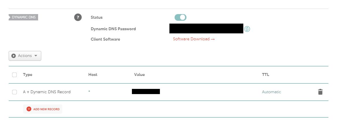 Setting up an A+ Dynamic DNS record via Namecheap