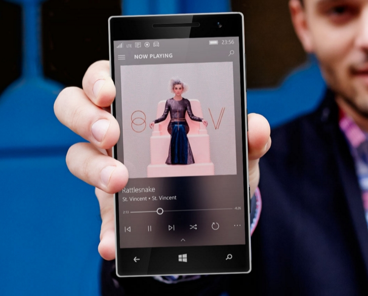Groove Music app on Windows 10 Mobile