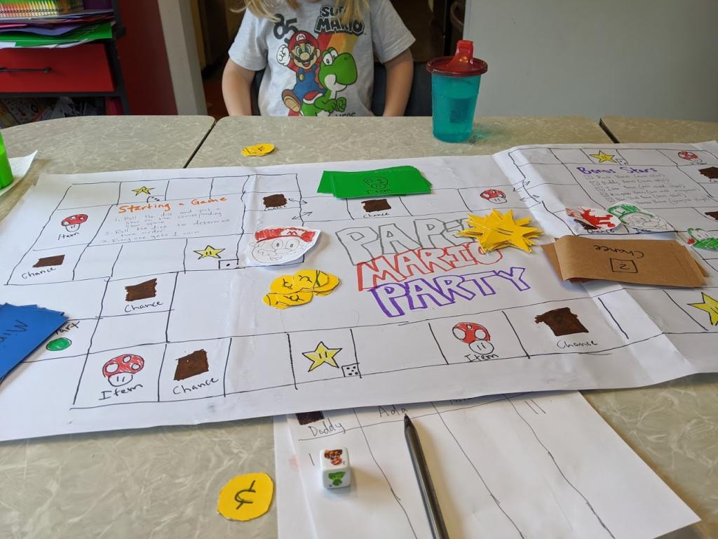 Intense Paper Mario Party gameplay in progress.