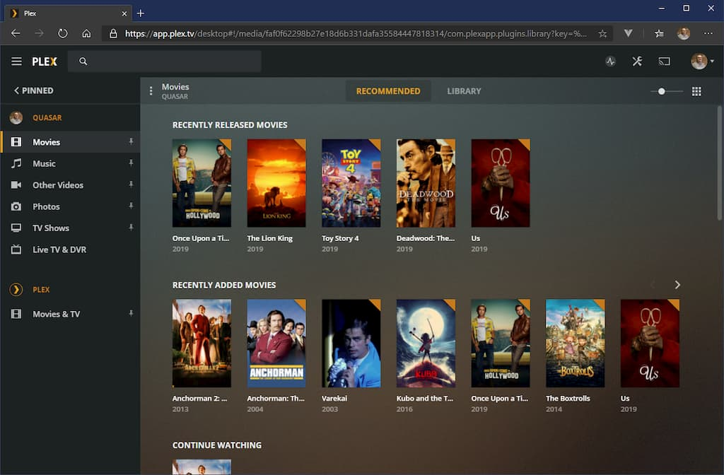 The Plex user interface is much nicer. It's like your own personal Netflix, but of media you actually own.