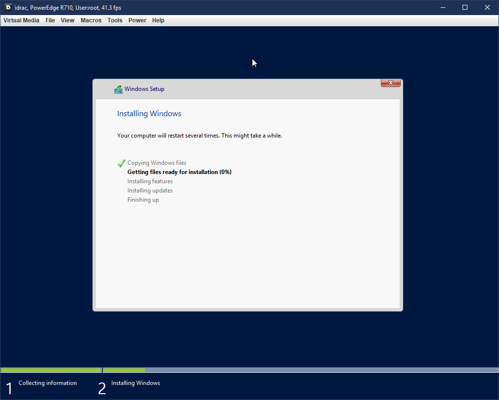 Windows Server 2016 Setup.